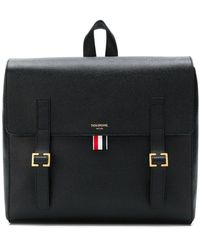 Thom Browne - Unstructured Leather Book Bag - Lyst