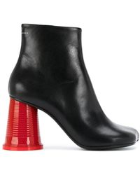 MM6 by Maison Martin Margiela - Cup Heeled Boots - Lyst