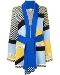Pinko - Colour-block Belted Cardigan - Lyst