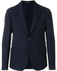 Giorgio Armani - Buttoned Up Longsleeved Jacket - Lyst