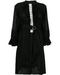 Tsumori Chisato | Crochet Stitched Ruffle Trim Dress | Lyst