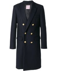 Palm Angels - Double Breasted Midi Coat - Lyst