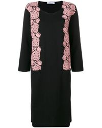Blumarine - Floral Embroidery Jumper Dress - Lyst
