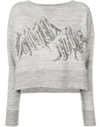 Golden Goose Deluxe Brand - Cropped Graphic Print Sweatshirt - Lyst