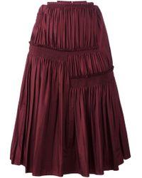 Nina Ricci - Pleated A-line Skirt - Lyst