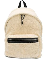 0ea2b265e4f8 Lyst - Saint Laurent Fleece Backpack in Black for Men