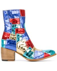 Rocco P - Patchwork Boots - Lyst
