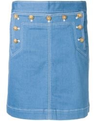 Tory Burch - A-line Denim Skirt - Lyst