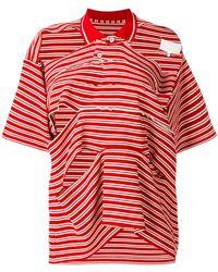 Maison Margiela - Slit Detail Polo Shirt - Lyst