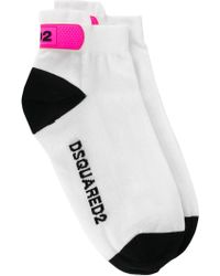 DSquared² - Logo Printed Ankle Socks - Lyst