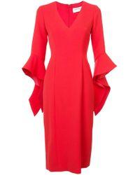 Prabal Gurung - Ruffle Cuff V-neck Dress - Lyst