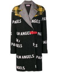 Palm Angels - Contrast Logo Coat - Lyst