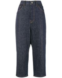 Y's Yohji Yamamoto - High Rise Cropped Jeans - Lyst