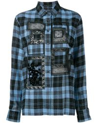 Ermanno Scervino - Lace Detail Checked Shirt - Lyst