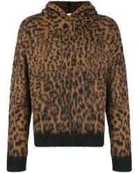 Laneus - Leopard Pattern Hoodie - Lyst