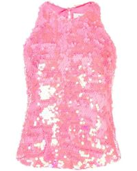 MILLY - Top con paillettes - Lyst