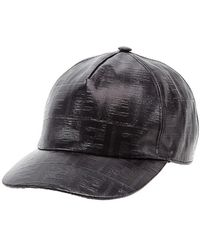 76bee4d0c7d Lyst - Fendi Embossed Logo Hat in Gray for Men