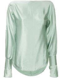 Christopher Esber - Sleeve Slit Blouse - Lyst