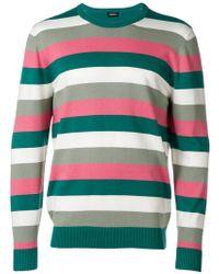 DIESEL - Colour-block Striped Sweater - Lyst