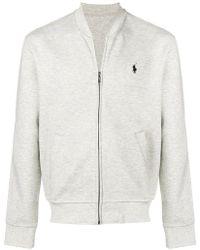 Polo Ralph Lauren - Logo Zipped Sweatshirt - Lyst