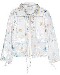 Ganni - Floral Rain Jacket - Lyst