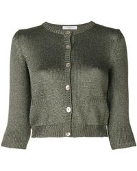 Charlott - Front Fastened Fitted Knitted Cardigan - Lyst