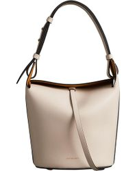 Burberry - The Small Leather Bucket Bag - Lyst