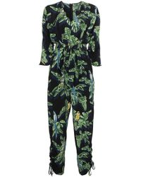 Stella McCartney - Silk Parrot Print Jumpsuit - Lyst