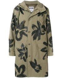Moschino - Painterly Floral Parka - Lyst