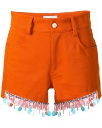 Au Jour Le Jour - Beaded Trim Shorts - Lyst