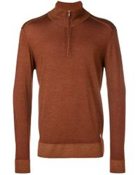 C P Company - Front Zip Pullover - Lyst