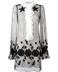Giamba - Embroidered Sheer Dress - Lyst