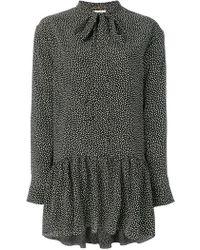 Saint Laurent - Ditsy Floral Tie Neck Dress - Lyst