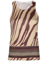 Roberto Cavalli - Zebra Print Knit Top - Lyst
