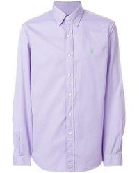 Ralph Lauren - Logo Embroidered Shirt - Lyst