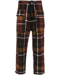 Osklen - Flanell Chess Trousers - Lyst