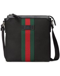 Gucci - Web Techno Canvas Small Messenger Bag - Lyst