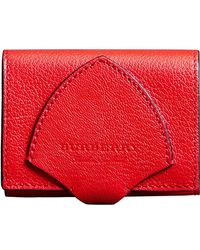 Burberry - Equestrian Shield Leather Wallet - Lyst