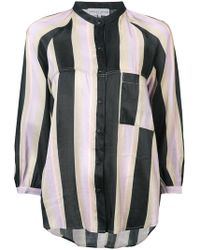 Apiece Apart - Striped Cropped Sleeve Blouse - Lyst