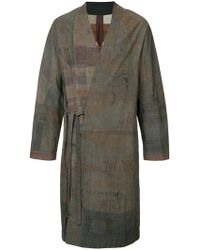 Ziggy Chen - Printed Tie Waist Jacket - Lyst