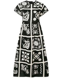 RED Valentino - Embroidered Dress - Lyst