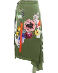 Preen By Thornton Bregazzi - Sketchbook Floral Print Skirt - Lyst