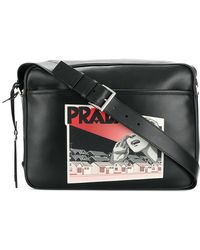 Prada - Comic Logo-print Shoulder Bag - Lyst