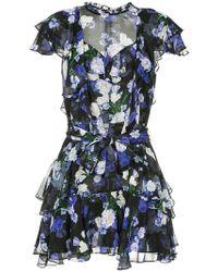 Marissa Webb - Floral Print Sheer Dress - Lyst