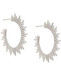 Rachel Jackson - Sunrays Hoop Earrings - Lyst