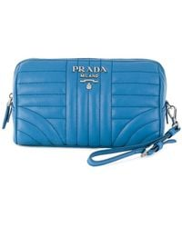 Prada - Quilted Zip Make-up Bag - Lyst
