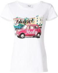 Blugirl Blumarine - Printed T-shirt - Lyst