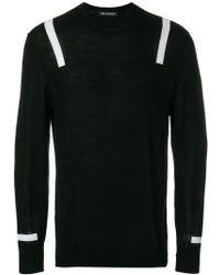 Neil Barrett - Stripe Detail Sweater - Lyst
