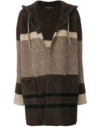 James Perse - Striped Cardi-coat - Lyst