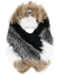 Meteo by Yves Salomon - Fox Fur Oversized Scarf - Lyst